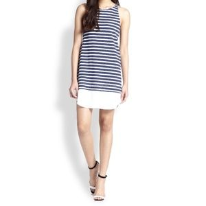 A.L.C Mesa Blue White Striped Linen Dress XS
